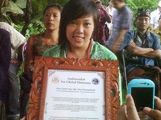 Putri Gus Dur Dinobatkan jadi Duta Global Harmoni